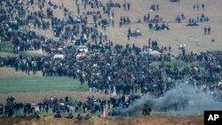 مظاهره روز جمعه یکی از بزرگترین تجمع اعتراضی فلسطینیان در سال های اخیر در غزه شمرده می شود.