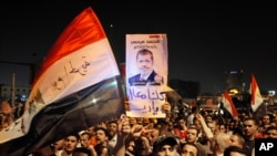 Egyptians Celebrate in Tahrir Square