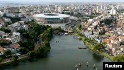 Vista aérea de Salvadir, Bahia