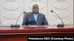 Président Félix Tshisekedi na bokutani ya mbalakaka na cité ya Union Africaine, Kinshasa, 25 novembre 2019. (Présidence RDC)