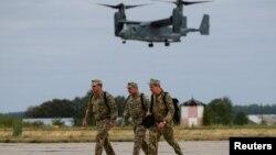 Военные США и Украины проводят совместные учения под Винницей, 18 сентября 2020 г. (архивное фото)