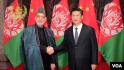 د افغانستان او چین د جمهور رئیسانو لیدنه