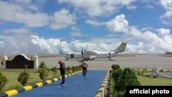 ဖလမ္းၿမိဳ႕ေလယာဥ္ကြင္းသစ္ (ဓါတ္ပံု- Falam Airport, Chin State Myanmar