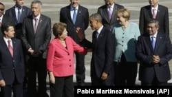 Президент Обама и президент Руссефф во время саммита «Большой двадцатки» в Санкт-Петербурге