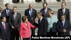 出席20國集團峰會的世界各國領導人
