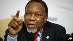 Vice-presidente sul-africano Kgalema Motlanthe