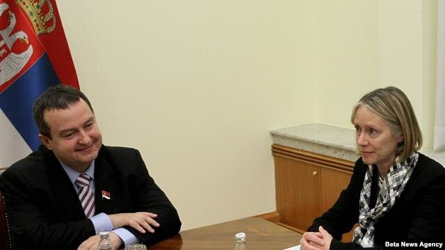 Premijer Srbija Ivica Dačić i direktorka i regionalna koordinatorka za Jugoistočnu Evropu Džejn Armitidž