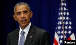 President Barack Obama speaks about last Saturday's bombing in Manhattan's Chelsea neighborhood in New York, Sept. 19, 2016.