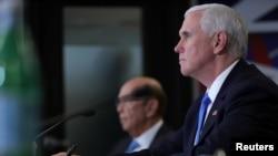 美國副總統彭斯5月19日在美國國家航空航天局主持第七屆國家宇航理事會會議。