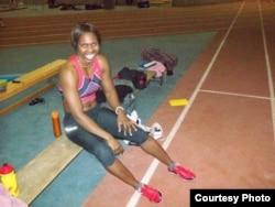 Winneth Dube came sixth in the 100 meter race in Athens in 2004. (Courtesy Photo: Winneth Dube)