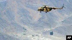 هلیکوپتر های روسی در فضای افغانستان
