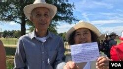 来自宁波的张氏夫妇他们的祖先是其中一块碑石的捐赠者