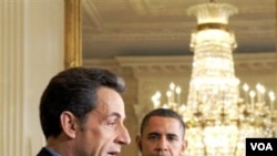 Presiden Obama menantikan kerjasama dengan Presiden Nicolas Sarkozy (foto: dok) untuk memulihkan perekonomian global