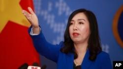 Phát ngôn viên Lê Thị Thu Hằng.