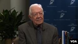 Cựu Tổng thống Jimmy Carter tại Trung tâm Carter ở Atlanta.