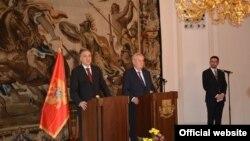 Predsednici Crne Gore i Češke, Filip Vujanović i Miloš Zeman (rtcg.me)