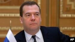FILE - Russian Prime Minister Dmitry Medvedev.