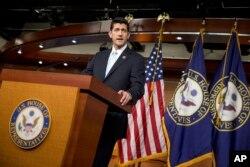 共和党议员保罗•瑞安(2015年10月20日 资料照片)