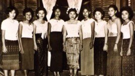 Neou Sarem, second from far left, was born March 18, 1940, in Kandal province's Kien Svay district, in a household of seven children.