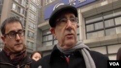 美國駐華大使館一等政務秘書白丹利(Dan Biers)呼籲當局釋放浦志強 (視頻截圖)