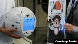 CIMON, short for Crew Interactive Mobile Companion, a medicine ball-sized device weighing about 11 pounds, will join the International Space Station team in June 2018. (Photo courtesy of IBM)