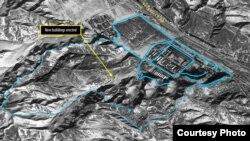 북한인권위원회가 공개한 '디지털글로브' 위성 사진. 지난 1월 5일 촬영한 25호 정치범 수용소의 모습이다.