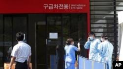 首爾一家醫院在七月中仍在採取預防措施(資料圖片)