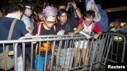 'Yan majalisar magoya bayan demokradiya a Hong Kong.