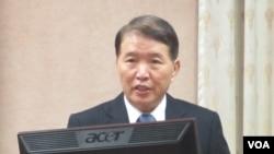 台灣國防部長高廣圻(美國之音張永泰拍攝)