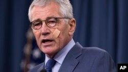 Hagel dijo a la prensa el viernes que ha habido una falta constante de la inversión y el apoyo a la fuerza nuclear de EE.UU.