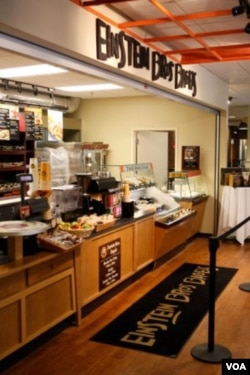 Einstein Bros. Bagels, a late night hangout on campus