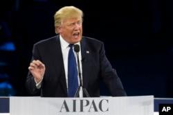 Tramp AIPAC-də çıxışı zamanı