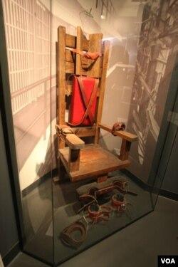 Электрический стул в вашингтонском Музее преступлений и наказаний