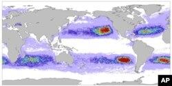 Graphic of floating Tsunami debris