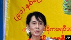 緬甸全國民主聯盟領導人昂山素姬。