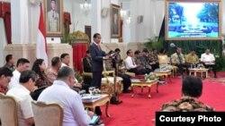 Sidang Kabinet Paripurna di Istana Negara Jakarta, Senin (7/1) Courtesy : Setpres RI