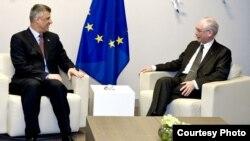 Hashim Thaci dhe Herman van Rompuy