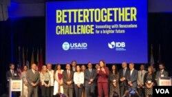 Sebuah acara USAID mengenai Venezuela. (Foto: VOA)