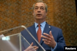 Nigel Farage, the leader of the United Kingdom Independence Party (UKIP), speaks at a news conference in central London, July 4, 2016. Farage said he will step down as leader of UKIP.