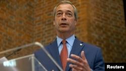 Odlazeći lider Stranke za nezavisno Ujedinjeno Kraljevstvo Najdžel Faradž