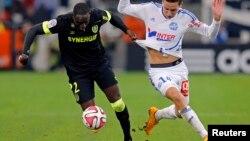 Le joueur Issa Cissokho lors d'un match sous le maillot du FC Nantes au Vélodrome de Marseilles, le 28 novembre 2014.