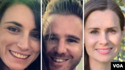 مارک فیرکین و دوست دخترش جولی کینگ، زوج وبلاگنویس(چپ) و کایلی مور گیلبرت» مدرس دانشگاه ملبورن که در ایران بازداشت هستند