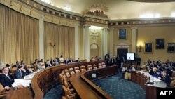 Các thành viên trong 'siêu ủy ban' chống thâm hụt ngân sách tham dự một buổi điều trần tại Quốc hội Hoa Kỳ