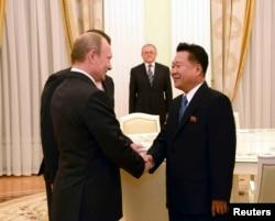 金正恩的一名高级助手今年9月与俄罗斯总统普京会面