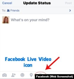 Facebook Live Video Icon