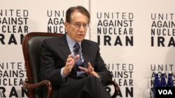 آقای ترزی، وزیر خارجه پیشین ایتالیا و عضو هیات مشاوران سازمان «متحد علیه ایران هسته ای» است.