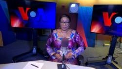 Kadiatou Traore of the VOA Bambara Service in the anchor chair in Washington, DC.