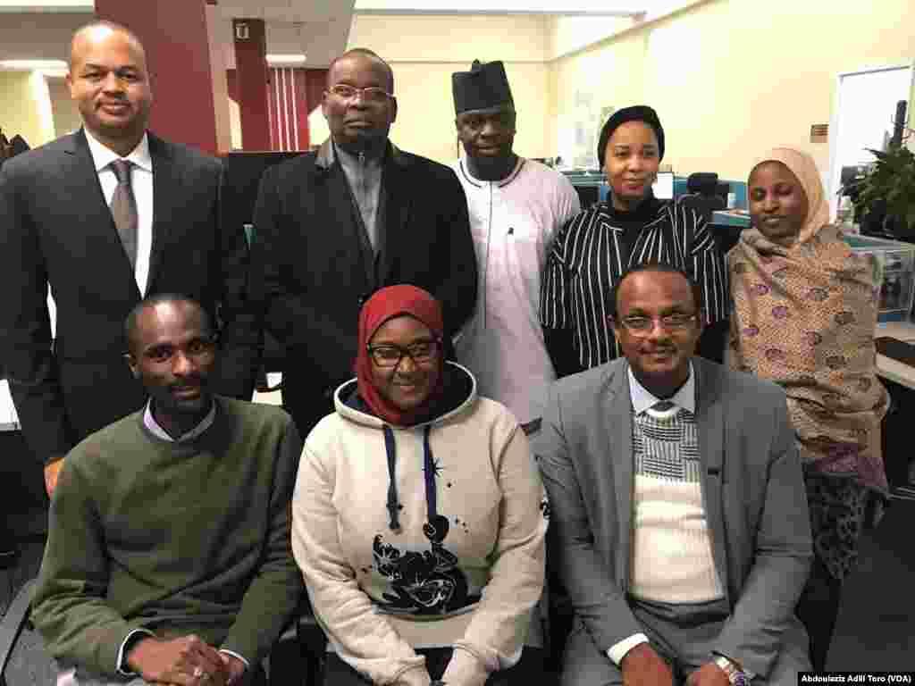 Ministan Ilimin kasar Nijar Daouda Mamadou Marthe, Abdoulaziz Adili Toro, Mahmud Lalo, Daula Saleem, Zahra'u Fagge, Yusuf Harande, Amina Buhari, da kuma Mohamed Zeidane. Nuwamba 30, 2018