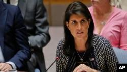 La embajadora de EE.UU. ante la ONU, Nikki Haley, dice que Irán debe ser responsabilizado por el cumplimiento del acuerdo nuclear.