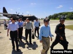 台湾国防部副部长杨念祖,立委陈镇湘;立委詹凯臣;立委林郁方(从左至右)
